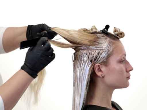 رنگ کردن موی زنانه